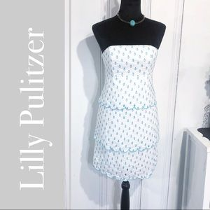 Lilly Pulitzer April Showers Eyelet Franco Dress
